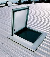 We Install A U0027safe Pathu0027 From The Ceiling Hatch To The Roof Access Hatch So  That Workers Cannot Fall Through The Ceiling Or Be Electrocuted By Exposed  ...