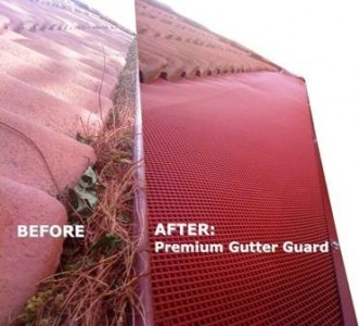 Sydney Roof & Gutter Premium Gutter Guards before and after