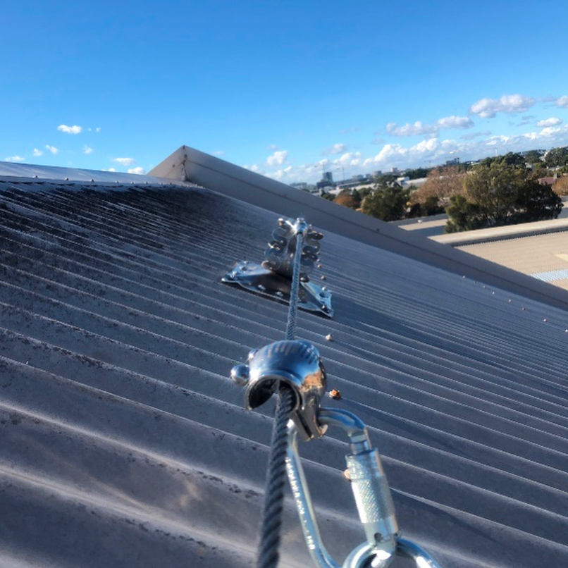 2 Static Lines installed in Erskineville. Static lines give better access and safety than just anchor points. This system includes improved Energy Absorbing capacity to reduce harness injuries in the case of fall arrest. #sydneyanchorpoints #roofsafety #safetyfirst #staticline #anchorpoints #sydney